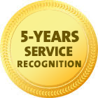 5 years service 2019