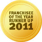 Award Franchisee Runner Up 2011
