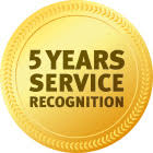 Award 5 Years Service Recognation