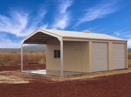Skillion Roof Garages Residential Steel Buildings Totalspan Australia